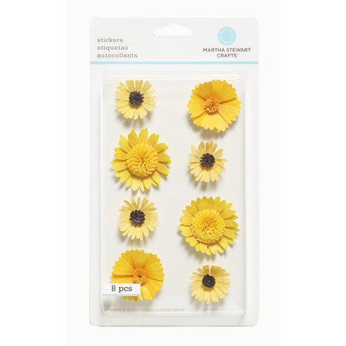 Martha Stewart Crafts - 3 Dimensional Stickers - Yellow Flowers