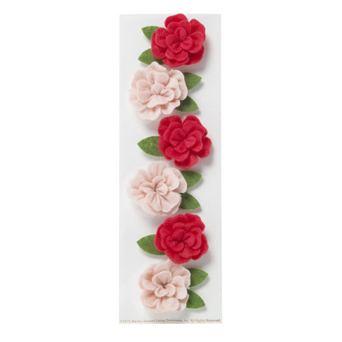 Martha Stewart Crafts - Valentine - 3 Dimensional Felt Stickers - Rose