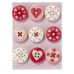 Martha Stewart Crafts - Valentine - Buttons - Heart and Love, CLEARANCE