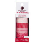 Martha Stewart Crafts - Valentine - Paper Tape - Pink and Red Lace