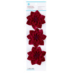 Martha Stewart Crafts - Vintage Collection - Felt Flowers - Red Camellia