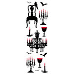 Martha Stewart Crafts - Halloween - Epoxy Stickers - Vampire Chandelier and Chair, CLEARANCE