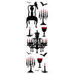 Martha Stewart Crafts - Halloween - Epoxy Stickers - Vampire Chandelier and Chair, CLEARANCE