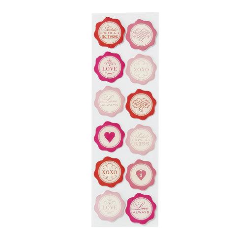 Martha Stewart Crafts - Valentine - Epoxy Stickers - Seals
