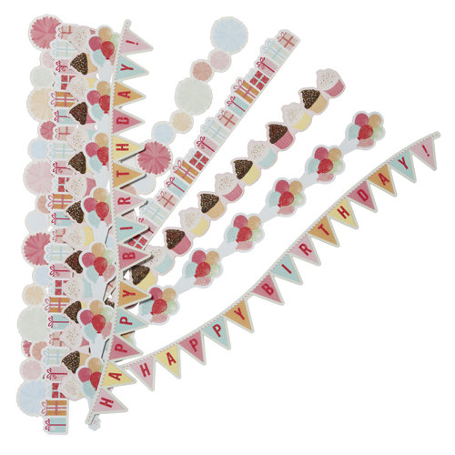 Martha Stewart Crafts - Modern Festive Collection - Border Stickers with Glitter Accents