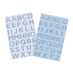 Martha Stewart Crafts - Christmas - Epoxy Stickers with Glitter Accents - Large Alphabet - Winter Wonderland