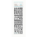 Martha Stewart Crafts - Glitter Stickers - Small Alphabet - Black