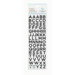 Martha Stewart Crafts - Glitter Stickers - Small Alphabet - Black