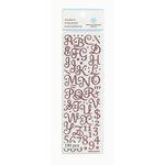 Martha Stewart Crafts - Glitter Stickers - Small Alphabet - Pink