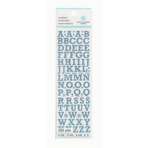 Martha Stewart Crafts - Glitter Stickers - Small Alphabet - Blue
