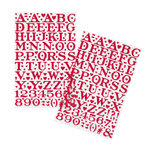 Martha Stewart Crafts - Valentine - Epoxy Stickers - Large Alphabet - Red
