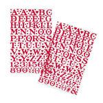 Martha Stewart Crafts - Valentine - Epoxy Stickers - Large Alphabet - Red