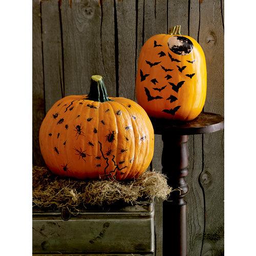Martha Stewart Crafts - Halloween - Pumpkin Transfers - Flying Bats