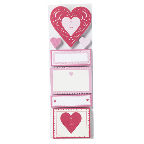 Martha Stewart Crafts - Valentine - Adhesive Label Pad - Heart and Notes