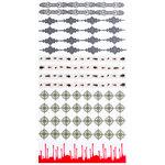 Martha Stewart Crafts - Halloween - Border Stickers with varnish Accents - Vampire