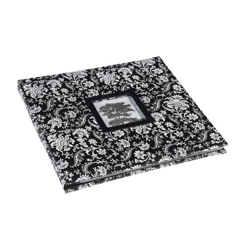 Martha Stewart Crafts - 12 x 12 Album - Black and White Floral