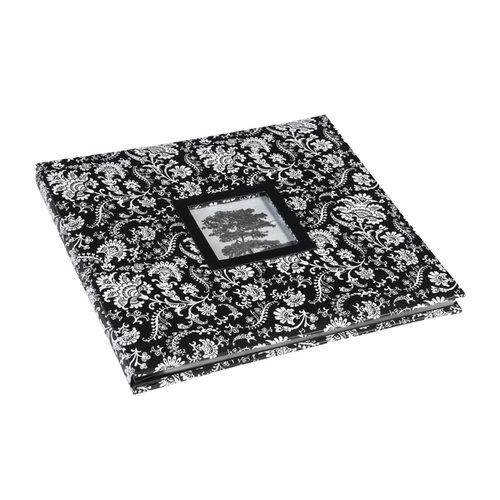 Martha Stewart Crafts - 12 x 12 Album - Black and White Floral