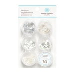 Martha Stewart Crafts - Stackable Embellishment Findings - Crystal Sterling