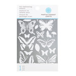 Martha Stewart Crafts - Dry Embossing Stencil - Butterfly Glossary
