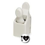 Martha Stewart Crafts - Valentine - Double Craft Punch - Medium - Heart Lock and Key