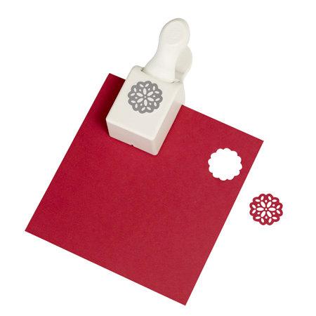 Martha Stewart Crafts - Christmas - Double Craft Punch - Medium - Vintage Doily
