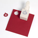 Martha Stewart Crafts - Christmas - Double Craft Punch - Medium - Aspen Ornament