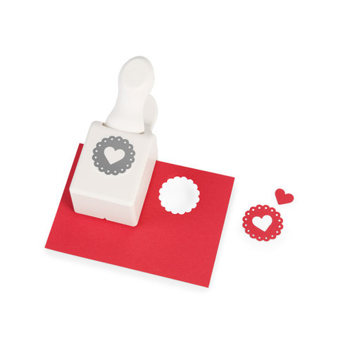 Martha Stewart Crafts - Valentine's Day Collection - Double Craft Punch - Medium - Heart Seal