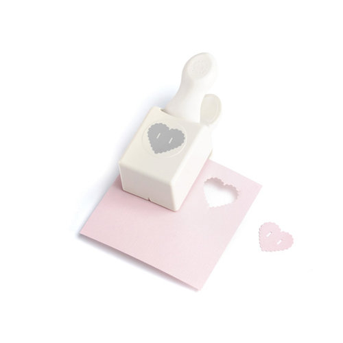 Martha Stewart Crafts - Double Craft Punch - Medium - Heart Button