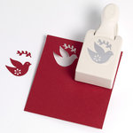 Martha Stewart Crafts - Christmas - Double Craft Punch - Large - Vintage Dove, BRAND NEW