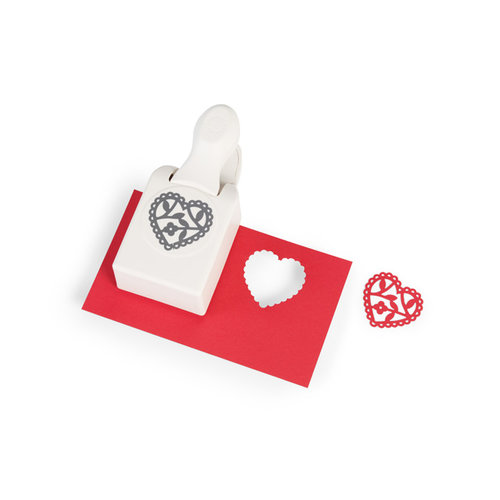 Martha Stewart Crafts - Valentine's Day Collection - Double Craft Punch - Large - Enchanted Heart