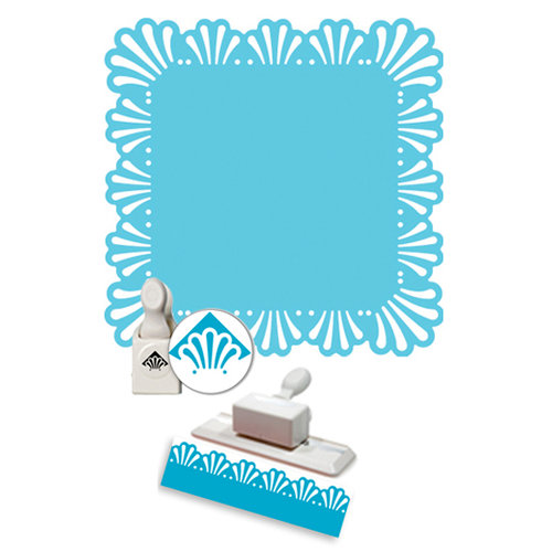 Martha Stewart Crafts - Punch Around the Page - Craft Punch Set - Deco Fan