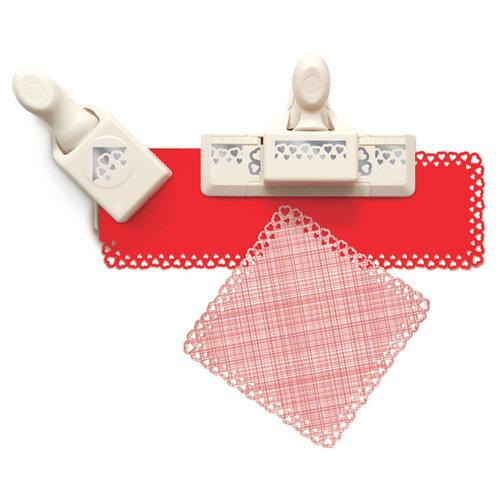 Martha Stewart Crafts - Valentine's Day Collection - Punch Around the Page - Craft Punch Set - Dancing Hearts