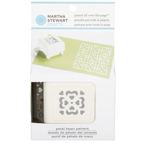 Martha Stewart Crafts - Punch All Over the Page - Craft Punch - Pattern Petal Heart