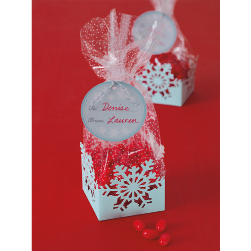 martha stewart crafts christmas cellophane treat bags snowflakes