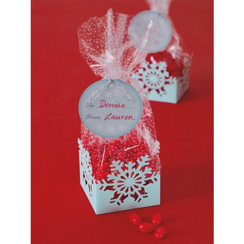 martha stewart crafts christmas cellophane treat bags snowflakes