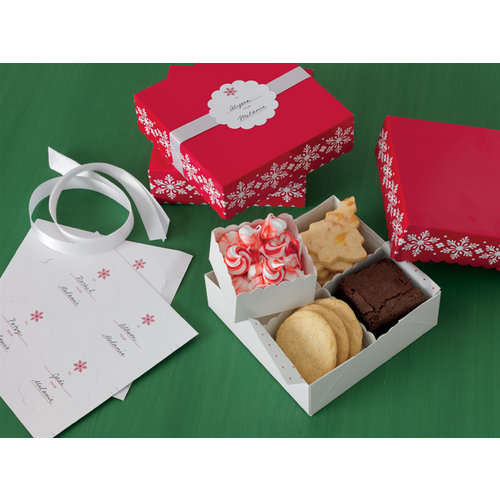 Martha Stewart Crafts - Christmas - Treat Boxes with Compartments - Snowflake