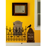 Martha Stewart Crafts - Halloween - Wall Clings - Graveyard