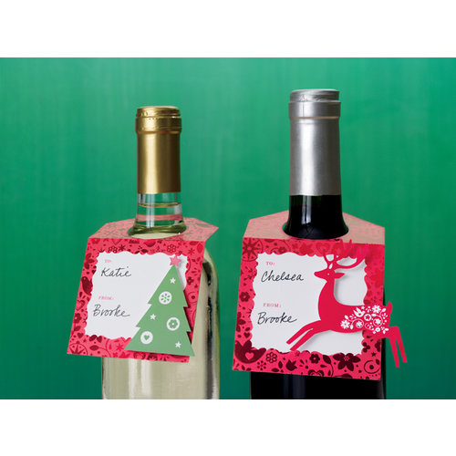 Martha Stewart Crafts - Christmas - Beverage Tags - Scandinavian