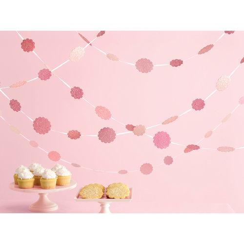 Martha Stewart Crafts - Vintage Girl Collection - Glittered Dot Garland - Pink
