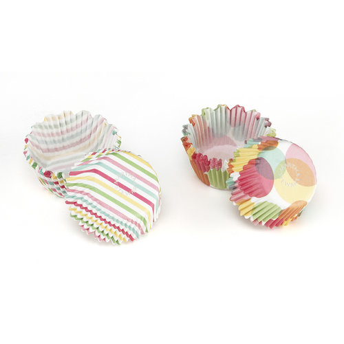 Martha Stewart Crafts - Modern Festive Collection - Mini Cupcake Treat Wrappers