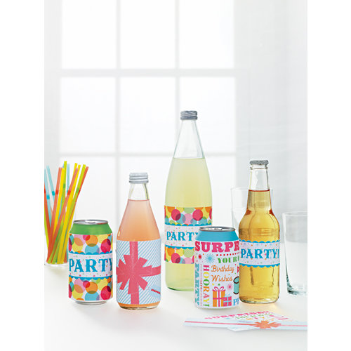 Martha Stewart Crafts - Modern Festive Collection - Assorted Beverage Labels