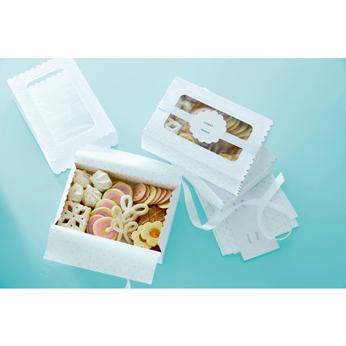 Martha Stewart Crafts - Doily Lace Collection - Treat Match Boxes