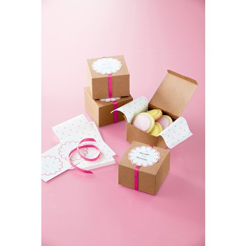 Martha Stewart Crafts - Vintage Girl Collection - Treat Boxes - Kraft