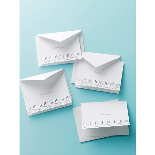 Martha Stewart Crafts - Doily Lace Collection - Thank You Cards