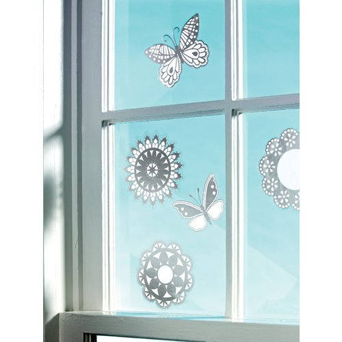 Martha Stewart Crafts - Doily Lace Collection - Window Clings