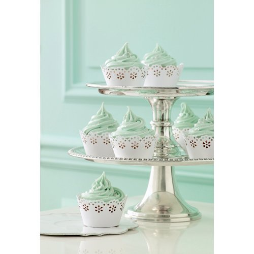 Martha Stewart Crafts - Doily Lace Collection - Die Cut Cupcake Treat Wrappers