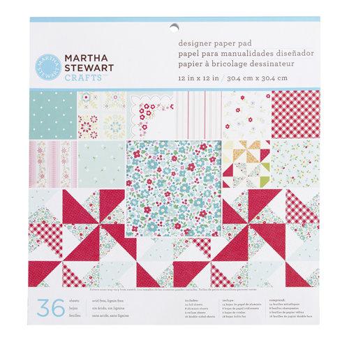 Martha Stewart Crafts - Stitched Collection - 12 x 12 Designer Paper Pad
