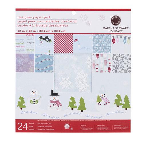 Martha Stewart Crafts - Christmas - 12 x 12 Designer Paper Pad - Winter Wonderland, BRAND NEW