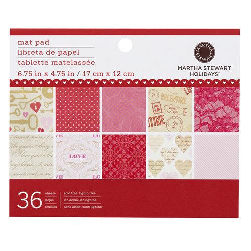 Martha Stewart Crafts - Valentine - Mat Paper Pad - Key and Heart