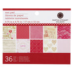 Martha Stewart Crafts - Valentine - Mat Paper Pad - Key and Heart